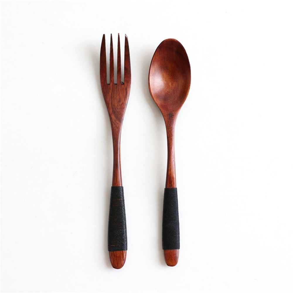 Natural Wooden Spoon & Fork