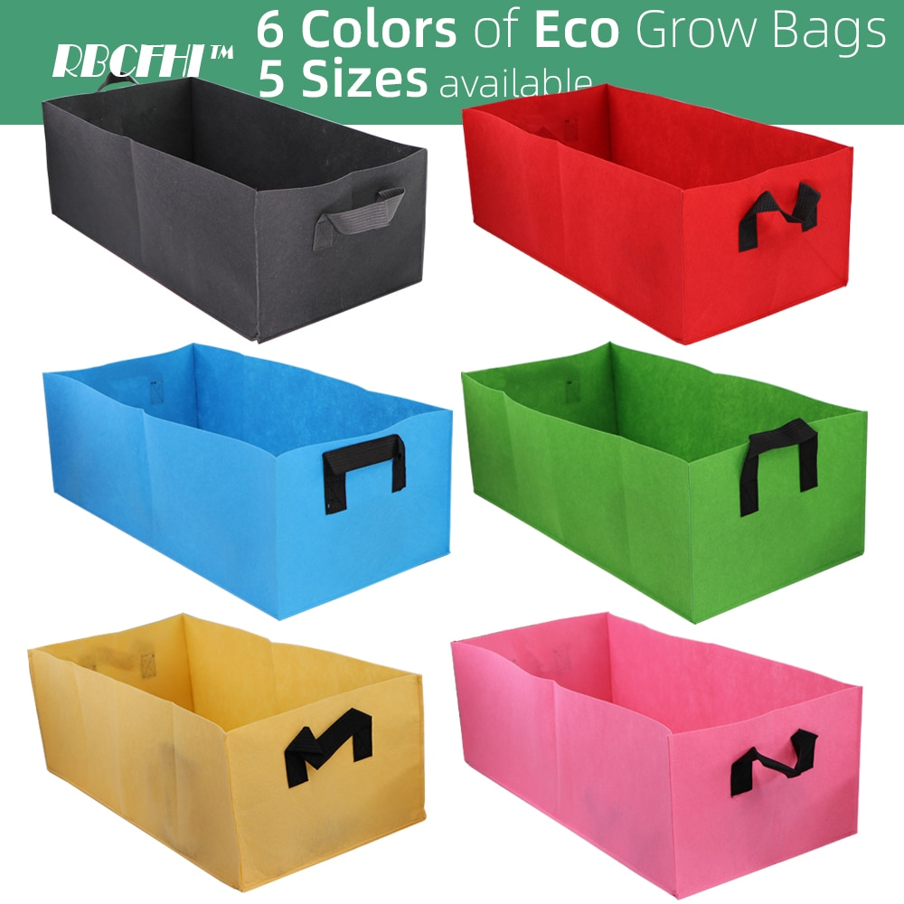 6 Colors 6 Sizes Square  grow bags