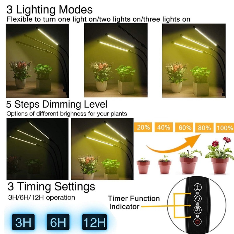 LED Grow Light with Timer