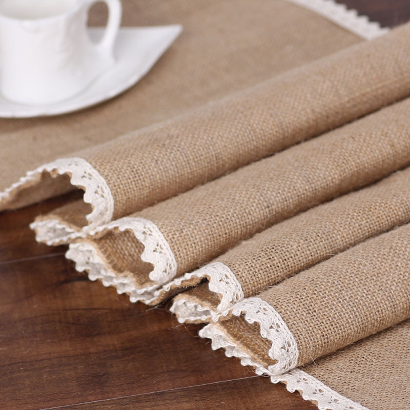 Lace Jute Table Runner