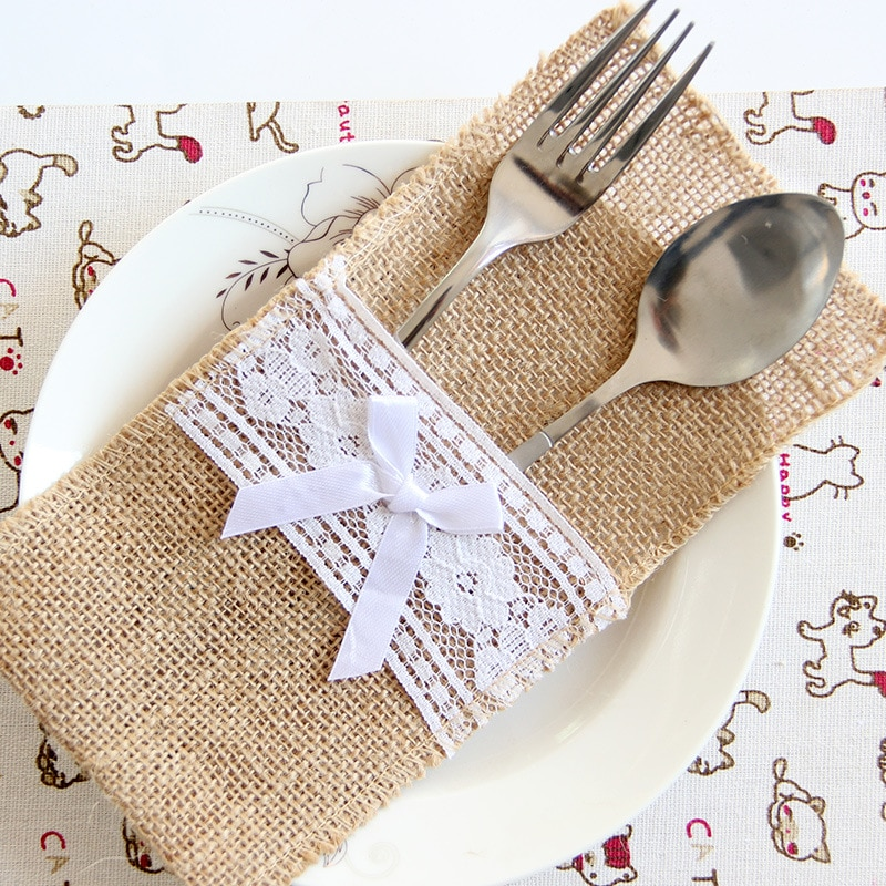 Lace Cutlery Bag