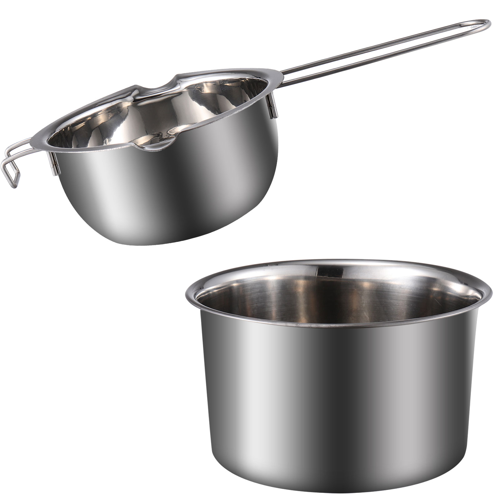 Stainless steel melting pots set for Chocolate